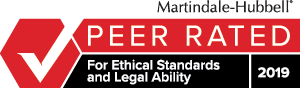 Nigro Law Firm LLC Martindale-Hubbell Firm Peer Review for Ethical Standards and Legal Ability 2019